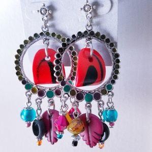 Boho Chic Dangle Charm Earring